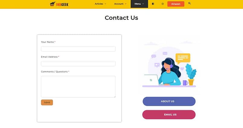 is contact page necessary