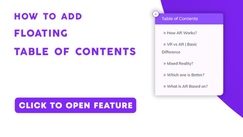 Floating Table Of Contents In WordPress