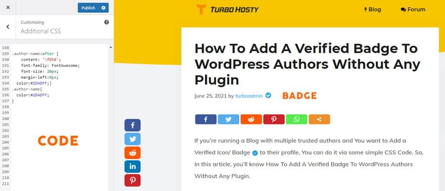 Add A Verified Badge To WordPress
