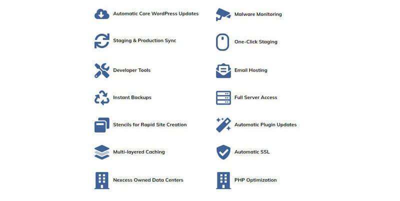 features of Nexcess hosting