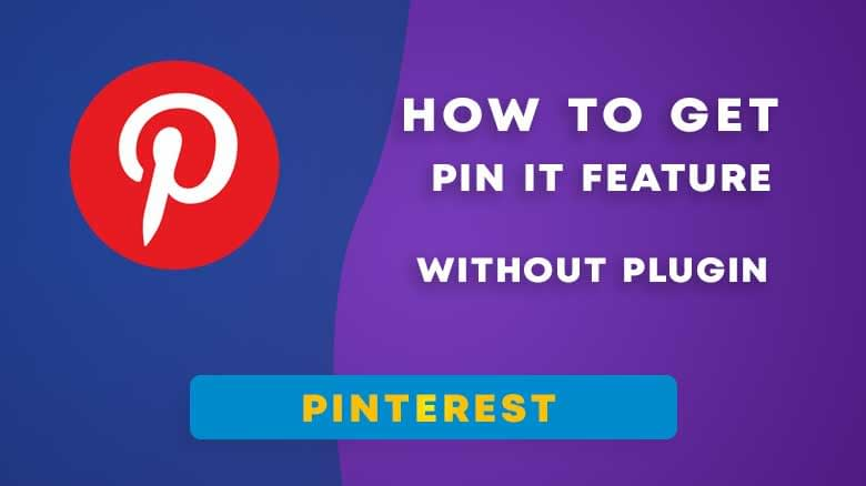 How to get Pin it Button in WordPress Images