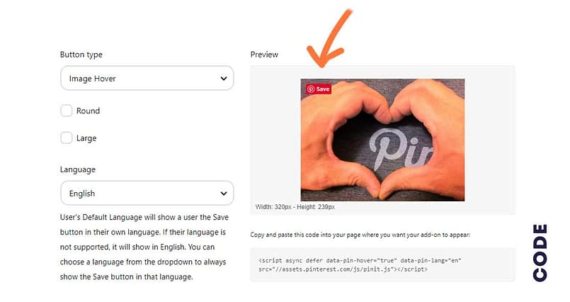 how to get pin it code in pinterest