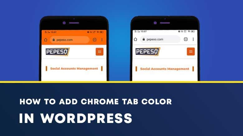 How to change Chrome Tab color
