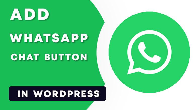 Add WhatsApp chat button in WordPress